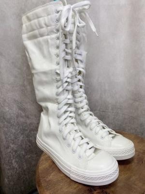 白スニーカーブーツ1